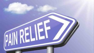 Sign showing pain relief