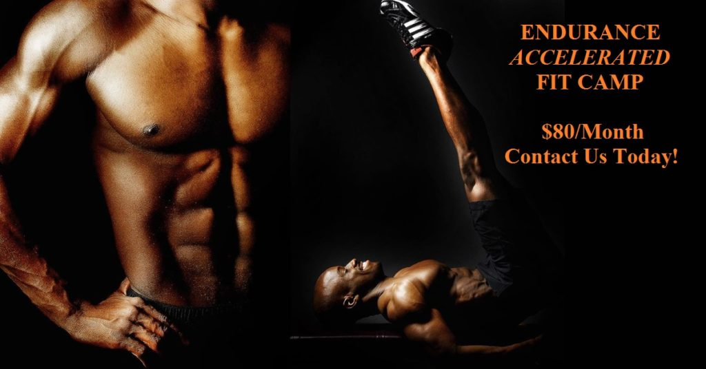 Endurance accelerated fit camp poster