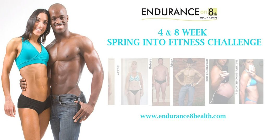 Spring into fitness challenge poster