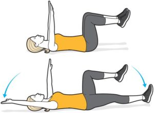 Dead bug crunch exercise for pelvic floor