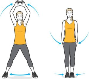 Jumping jacks exercise for pelvic floor
