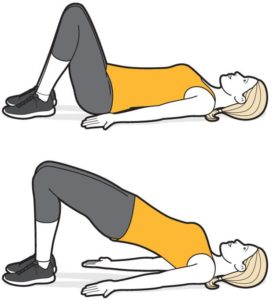 Bridge exercise for pelvic floor