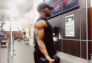 Modified bicep curls for shoulder pain photo