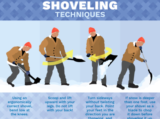 Snow shovelling tips photo