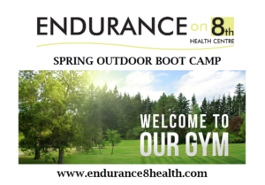 Spring outdoor boot camp poster of green space