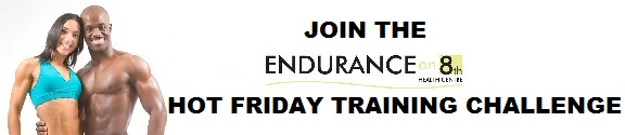 Hot friday training challenge poster