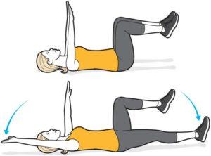Dead bug crunch exercise for pelvic floor