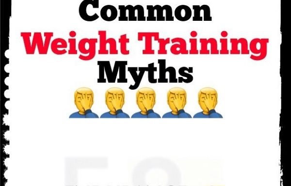 Weight training myths poster picture