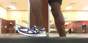 Heel jump exercise photo