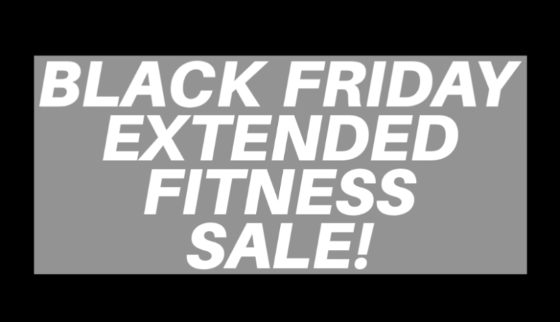 Black Friday Extended Fitness Sale Photo
