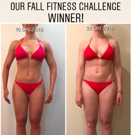 Fall fitness challenge winner front photo