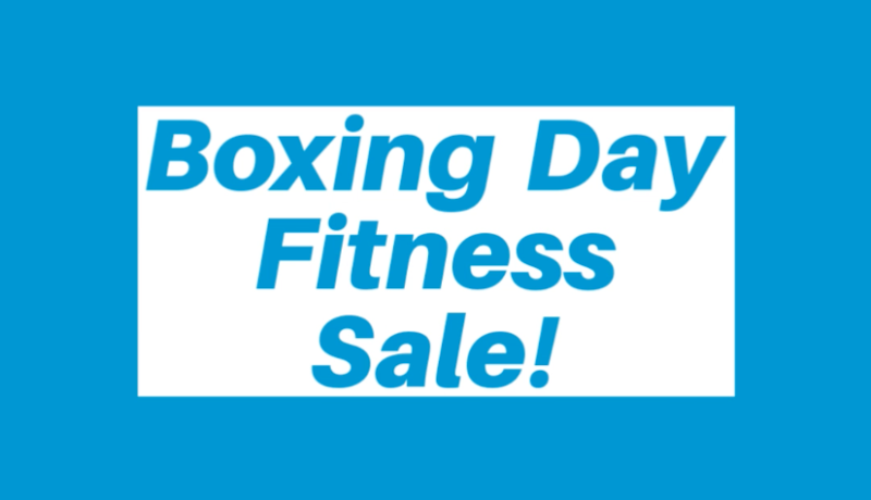 Boxing Day Fitness Sale Poster