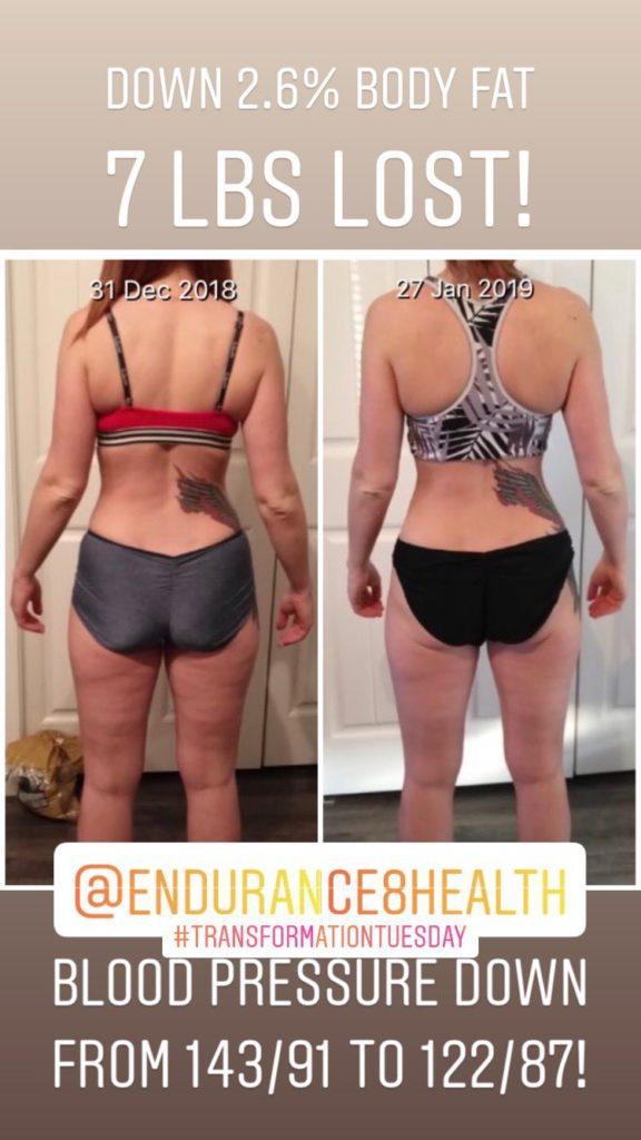 4 week fitness challenge winner back photo