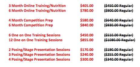 Spring Into Fitness Sale List Photo
