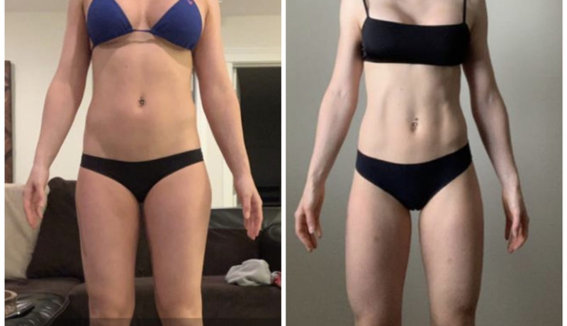 3 month fitness transformation front photos