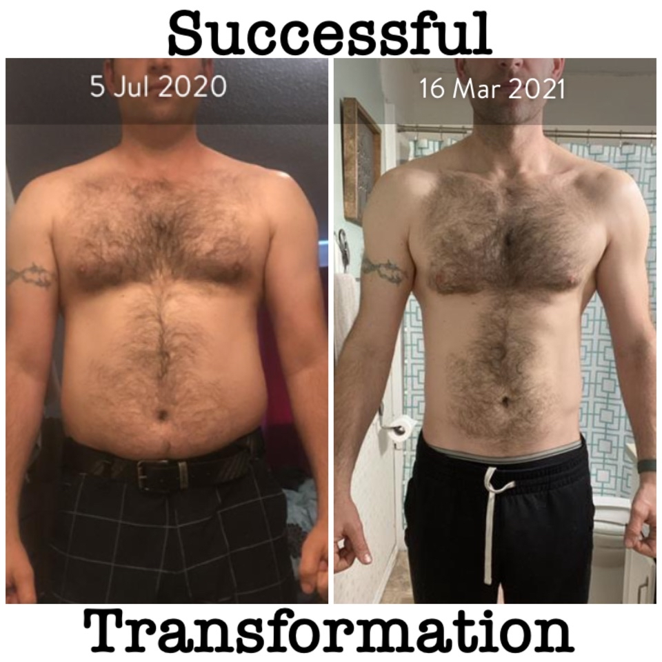Successful transformation front photo