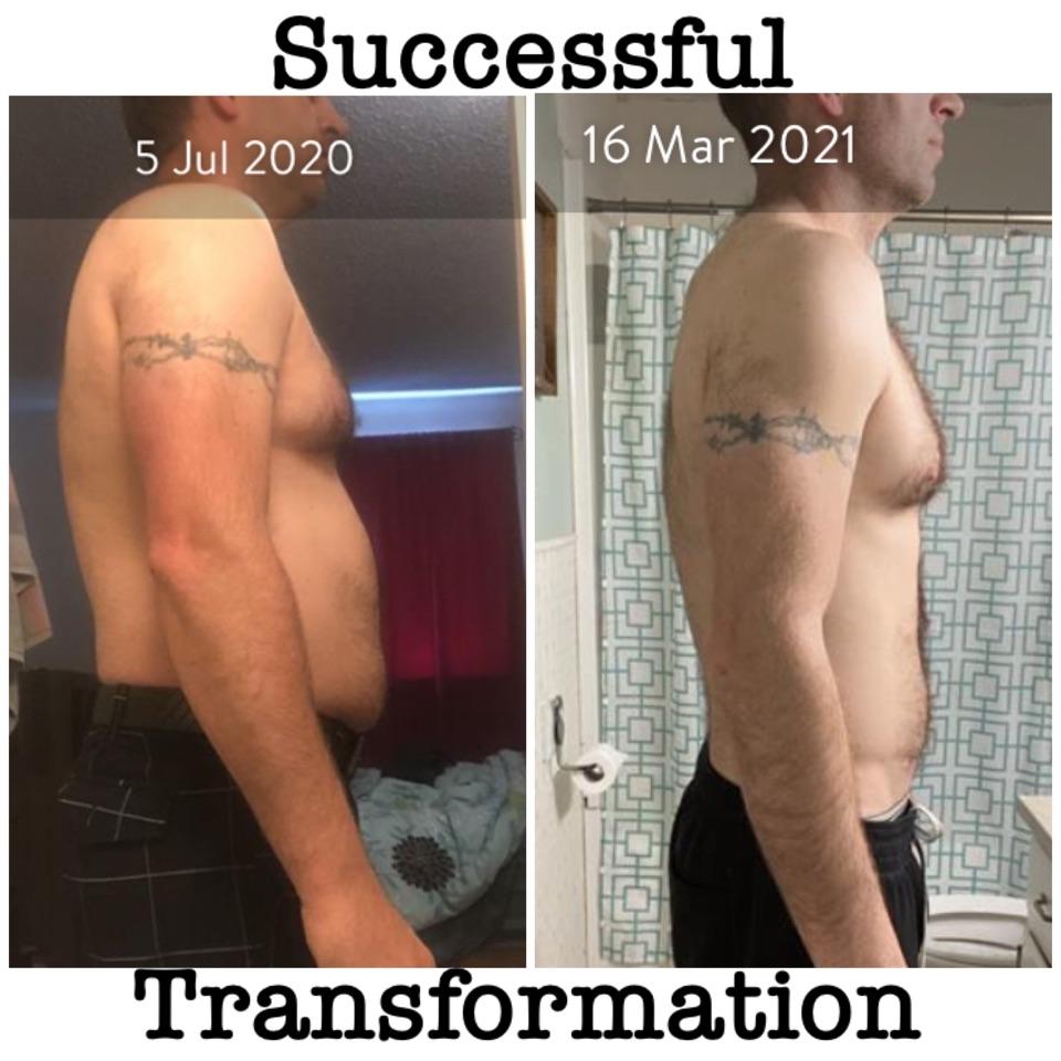 Successful transformation side photo